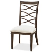 California Rustic Oak X-Back Dining Side Chair