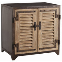 Lyon Shutter Rusted Natural Iron Cabinet