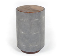 Crosby Reclaimed Wood Round Side Table