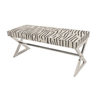 Remington Bench-Zebra