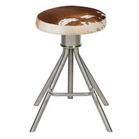 Remington Adjustable Stool-Tan/White