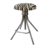 Remington Adjustable Stool-zebra