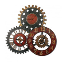 "Rusty Movements 35"" Wall Clock"