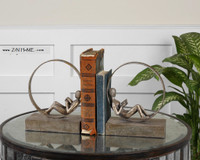 Lounging Reader Bookends