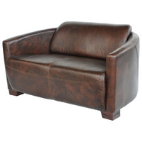 Sinclair Rocket 2 Seater Sofa- Vintage Cigar Leather