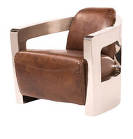 Sinclair Club Chair-Metal Arms