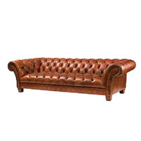 106&quot; Kensington Leather Sofa