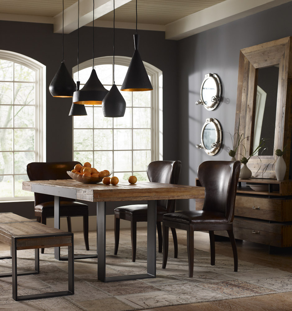Iron Wood Dining Table Photo Industrial Style Dining Set Images