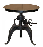 "Eisen Industrial Crank Table 22"" Black"