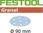 Festool Granat | 90 Round | 80 Grit | Pack of 50 (497365)