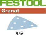 Festool Granat   93mm Delta   220 Grit   Pack of 100 (497397)