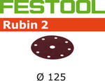 Festool Rubin 2 | 125 Round | 80 Grit | Pack of 10 (499103)