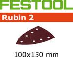 Festool Rubin 2   100 x 150 DTS 400   100 Grit   Pack of 10 (499144)