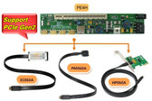 PE4H-EC060A v2.4 (PCIe passive adapter with EC060A Express Card adapter)