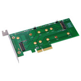 M2P4S (M.2 (NGFF) PCIe base SSD to PCIe X4 adapter)