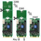 M2S V2.0 (SATA to M.2-Socket2-B+M-2242-SATA Adapter with SATA Power)