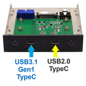 U3C2F (USB 3.1 Gen1/USB2.0 Type C Front Drive Bay Docking System)