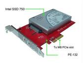 """MF-PE132 (2.5"""" NVMe U.2 SSD PCIe 3.0 x4 Carrier Adapter)"""