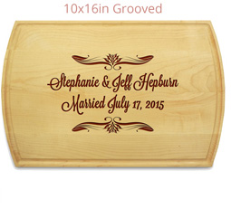 Wedding Cutting board 10x16 made in usa