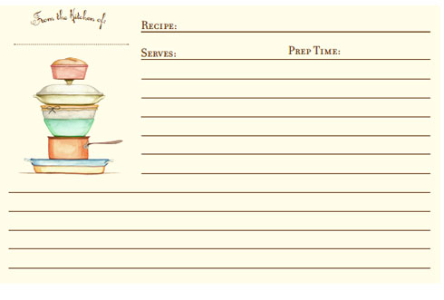Printable Recipe Cards April Calendar – Recipe Cards Template Free