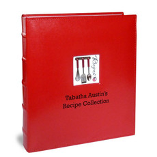 Full Page Personalized Recipe Organizers - Red A La Carte