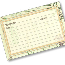 4x6  Recipe Cards - Botanical Treasures - 25 ea