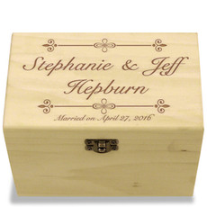 Bliss Collection Poplar Personalized 4x6 Recipe Card Box
