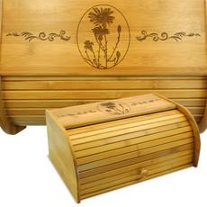 Flowers Aster Bamboo Breadbox