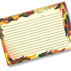 4x6 Chili Pepper Recipe Card 18ea