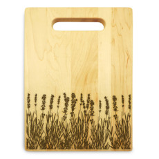 Lavender 9x12 Engraved Chopping Board Handle Maple Wood