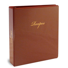 Full Page 3 Ring Recipe Book Binder Kit - Burgundy