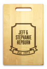 Banner Year 10x16 Handle Custom Cutting Board