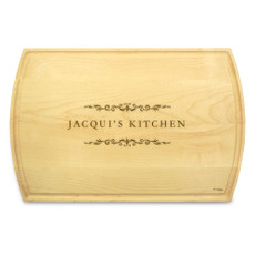 Classic Filigree 10x16 Grooved Cutting Board