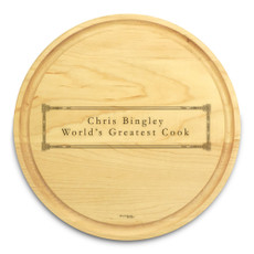 Corinthian 10in Round Maple Cutting Board with Juice Groove