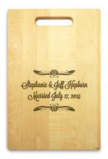 Forever After 10x16 Handled Personalized Cutting Board