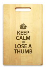 Keep Calm 10x16 Handle Custom Cutting Board