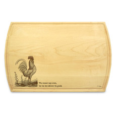 Rooster 10x16 Grooved Chopping Board