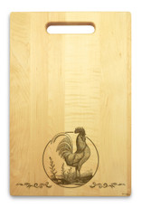 Rooster 10x16 Handle Custom Cutting Board