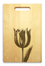 Tulip 10x16 Handle Engraved Cutting Board