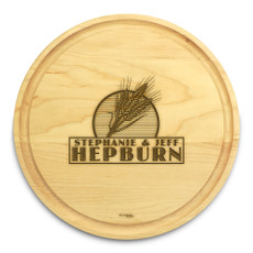 Wheat Grain 10in Circular Cutting Board Maple Made in USA