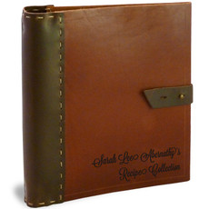 Personalized Full Page Rustic Saddle Leather Recipe Binder