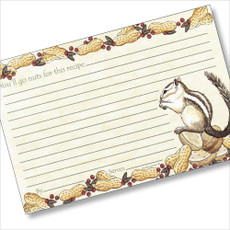 4x6 Chipmunk Dreaming Recipe Card
