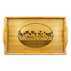 Garden Love Bamboo Wood Tray