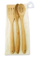 """Spatula/Spoon Set - Beech Wood 14"""" Long"""