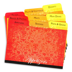 4x6 Tabbed Dividers for Recipe Cards - Velvet - 9 ea