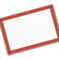 4x6 Recipe Card Rectangle Framed Red 40ea