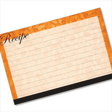 4x6 Recipe Card Velvet Vintage Wallpaper Orange 40ea