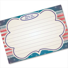 4x6 Recipe Card Hail to the Chef Patriotic 40ea