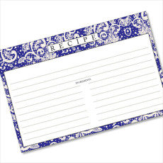 4x6 Recipe Card Lace Settings Midnight Blue 40ea