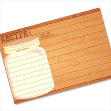 4x6 Recipe Card Woodwork Mason Jar Brown 40ea